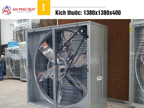 Quạt hút công nghiệp 1380x1380x400 chất lượng cao