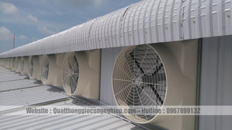 Quạt Thông Gió Công Nghiệp Vuông Composite 1260x1260