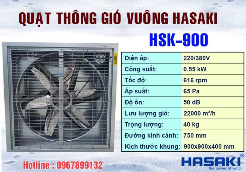 Quạt Hút Vuông Công Nghiệp 900x900 Hasaki