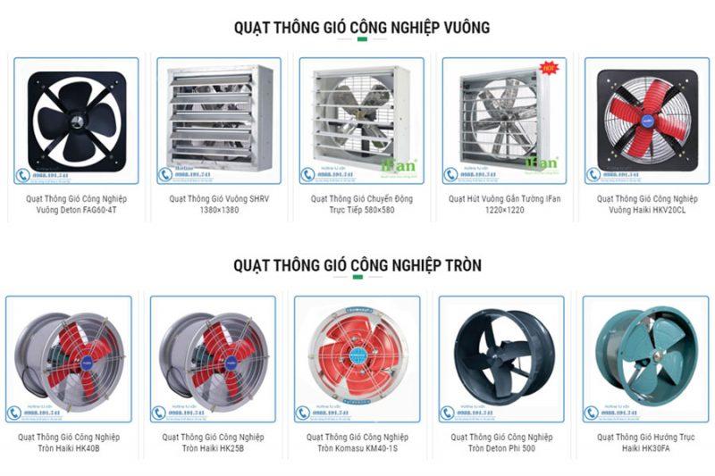 Nhà sản xuất và phân phối quạt thông gió lớn nhất tại Việt Nam