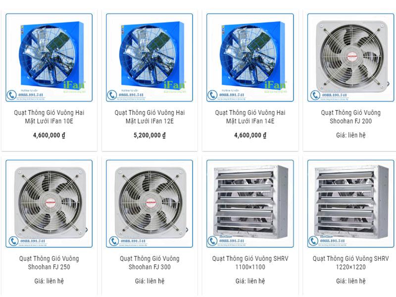 Công ty bán quạt thông gió lớn nhất tại Việt Nam