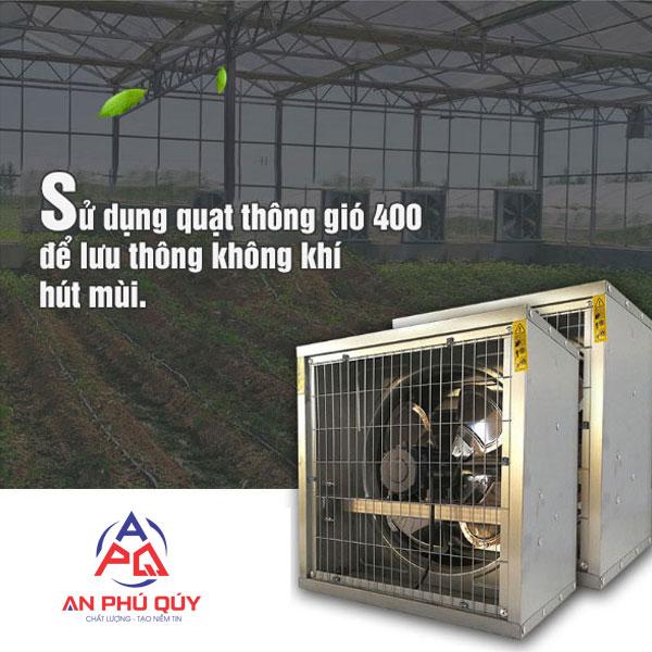 Đặc điểm của quạt thông gió 400x400 và ứng dụng trong sản xuất