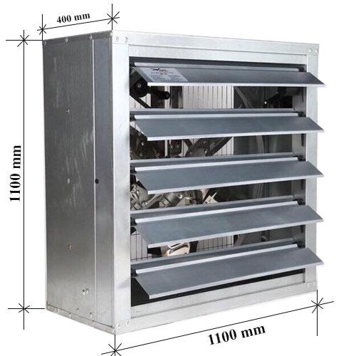 Quạt thông gió kích thước 1100x1100