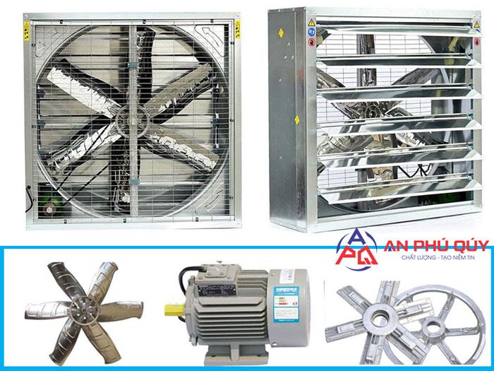 Quạt thông gió vuông được sử dụng trong kho xưởng