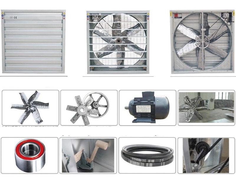 Quạt thông gió công nghiệp vuông